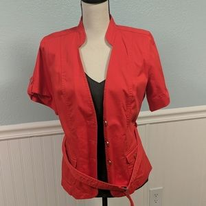 Nue Options S/S JACKET RED BELTED L